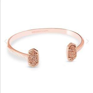 Elton Rose Gold Cuff Bracelet In Rose Gold Drusy
